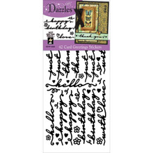 HOTP Dazzles Card Greetings Black Stickers