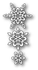 Poppystamps 100% Steel Die Madeleine Snowflakes 1588