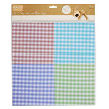"Docrafts Boofie Gingham 12x12"" Self-Adhesive Fabric Paper - 1 Sheet"