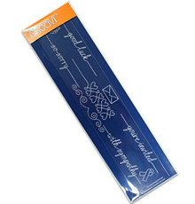 Groovi Messages Line Sentimenr - Laser Etched Acrylic for Parchment Craft