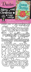 HOTP Dazzles Double-Stick Christmas Greetings Stickers HOTP2566