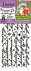 HOTP Dazzles Long Christmas Greetings Black Stickers HOTP2571
