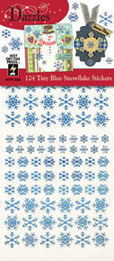 HOTP Dazzles 124 Tiny Blue Snowflake Stickers