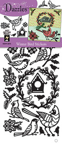 HOTP Dazzles Winter Bird Stickers Black