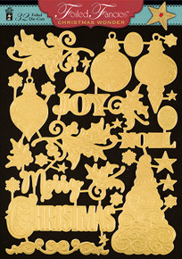 HOTP Foiled Fancies Christmas Wonder HOTP6530 32 Foiled & Embossed Die Cuts