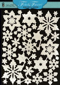 HOTP Foiled Fancies Snowflakes HOTP6533 36 Foiled & Embossed Die Cuts