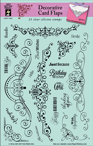 HOTP Decorative Card Flaps Rubber Stamps 1209 Unmounted