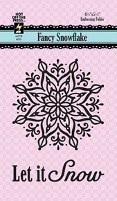 HOTP Fancy Snowflakes Embossing Folder HOTP6037
