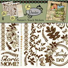 HOTP Dazzles NEW Nature's Touch GOLD Scrapbooking Stickers HOTP2837