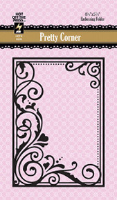 Paper Artist 6039 Pretty Corner Embossing Folder by Hot Off the Press
