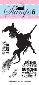 HOTP Small Witch Rubber Stamps 1225 Unmounted Halloween