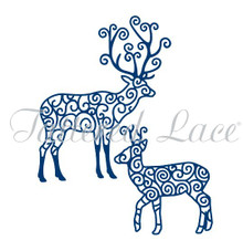 Tattered Lace RETIRED Reindeer Dies - D351