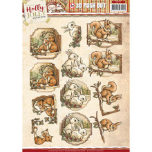 Yvonne Creations Holly Jolly Christmas ANIMALS 3D Push Out Tole Die Cuts