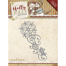 Yvonne Creations Holly Jolly Christmas Ornament Cutting Die YCD10071