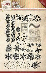 Yvonne Creations Holly Jolly Christmas Clear Stamp Set YCCS10025