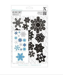 DoCraft XCut - Snowflakes - 13-Dies Metal Cutting Die Set
