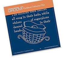 Groovi Twas the Night 03 Crib - Laser Etched Acrylic for Parchment Craft