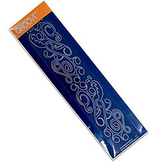 Groovi Ocean Swirl Border Plate - Laser Etched Acrylic for Parchment Craft