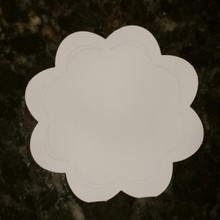 Hunkydory 6x6  White 8-Petal Flower Shape Card Blanks with Petal Openings and Envelopes 5-sets