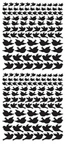 Dazzles Black Jewel Bird Stickers HOTP2585
