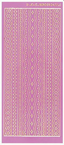 Dazzles Fuchsia Jewel Border Stickers HOTP2578