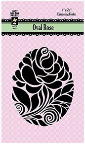 HOTP Embossing Folder - Oval Rose - A2