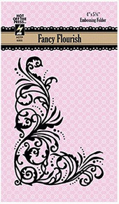 HOTP Embossing Folder - Fancy Flourish - A2