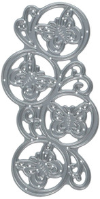 Penny Black Butterfly Circles Steel Die 51-201