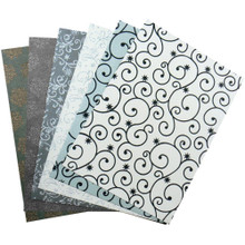 Couture Creations Specialty Paper Glittered And Pearlized Papers 6-Luxury A4 Sheets
