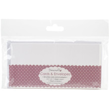 Trimcraft DCCE031 3.5 x 3.5' White Dovecraft Mini Cards with Envelopes (20 Pack)
