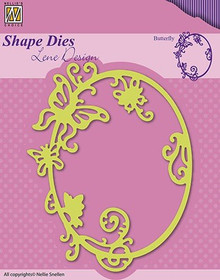 Nellie's Choice Shape Butterfly Cutting Die Designed by Lene