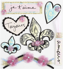 Jolee's Boutique Printed Paris Icons Dimensional Stickers