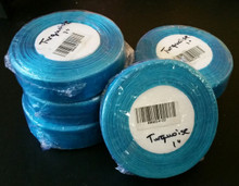 "Organza Ribbon 1"" DARK TURQUOISE  50-yards RN0014-22"