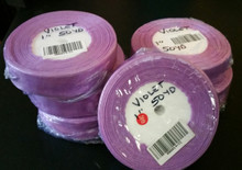 "Organza Ribbon 1"" VIOLET  50-yards RN0014-21"