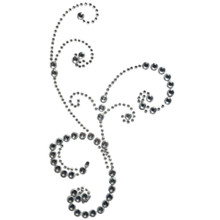 Want2Scrap Say it With Frilly Flourish Bling Rhinestones 100pc Clear Self Adhesive Gems 6105