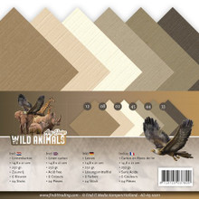 Amy Design Wild Animals A5 Paper Pad 24-pieces 250Gr ADA510011
