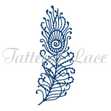 Tattered Lace Die ~ Peacock Feather, TTLD1291