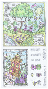 Hampton Art SC0723 Color Me clear Stamps 4'X7.75'-Amazing
