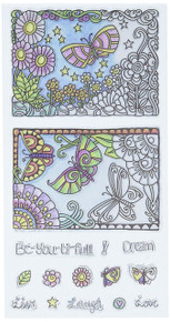 Hampton Art SC0721 Color Me clear Stamps 4'X7.75'-Beautiful
