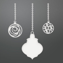 Couture Creations Be Merry Die-3 Chained Baubles, .1' To 3.1'