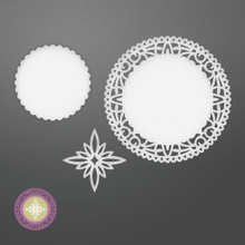 Couture Creations Be Merry Die-North Star Doily, 1.6' To 3.1'