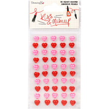Dovecraft 50pc Pink & Red Adhesive Gems DCDOT023