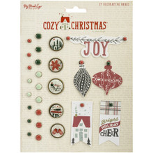 My Mind's Eye Cozy Christmas Decorative Brads-