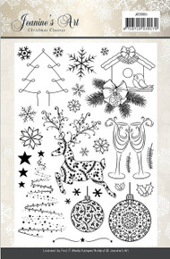 Jeanine's Art Christmas Classics Clear Acrylic Stamp Set JACS10004
