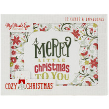 My Minds Eye CC-1010 Councey Christmas Card Set - 12 Cards & 12 Envelopes