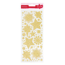 GLITTERATIONS FILIGREE GOLD 14161773 - CHRISTMAS Gold Peel-Style stickers