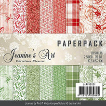 Jeanine's Art Christmas Classics 6x6 Paper Pack 23 Sheets DS 170gr