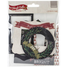 My Mind's Eye Sleigh Bells Ring Chipboard Frames 6/Pkg-