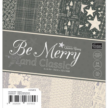 Be Merry And Classic Paper Pad 6'X6' 24/Pkg-