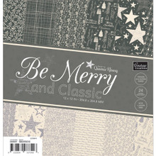 Be Merry And Classic Paper Pad 12'X12' 24/Pkg
